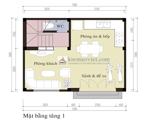 T&#432; v&#7845;n thi&#7871;t k&#7871; nh&agrave; ph&#7889; 3 t&#7847;ng m&#7863;t ti&#7873;n 7 m&eacute;t | &#7843;nh 2