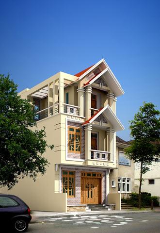 Mặt tiền ngôi nhà và bí quyết phối hợp màu sắc, chất liệu | ảnh 1