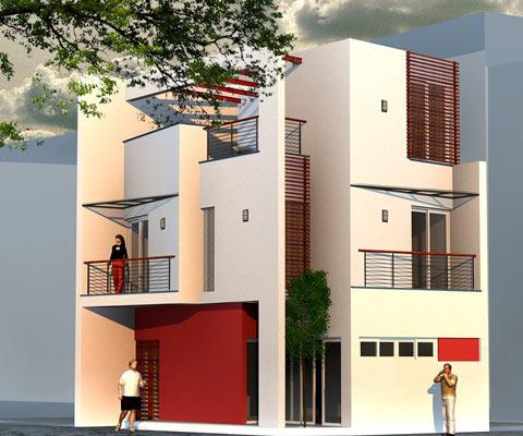 Mặt tiền ngôi nhà và bí quyết phối hợp màu sắc, chất liệu | ảnh 2