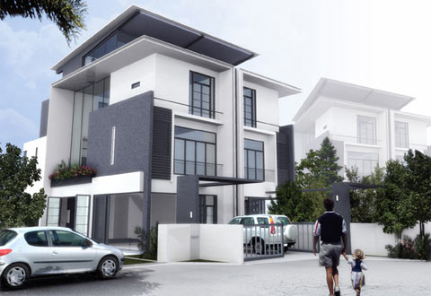 Mặt tiền ngôi nhà và bí quyết phối hợp màu sắc, chất liệu | ảnh 3