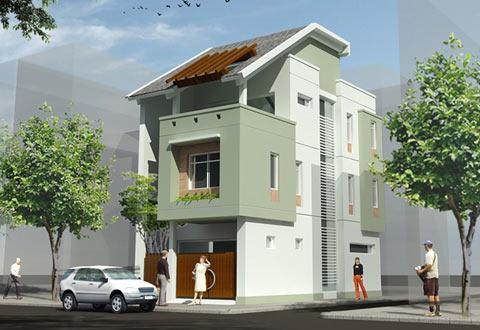 Mặt tiền ngôi nhà và bí quyết phối hợp màu sắc, chất liệu | ảnh 4