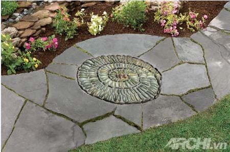 Tạo lối đi trong vườn theo phong cách mosaic | ảnh 1