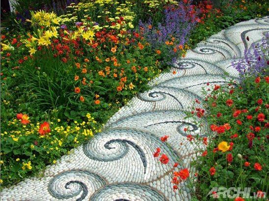 Tạo lối đi trong vườn theo phong cách mosaic | ảnh 4