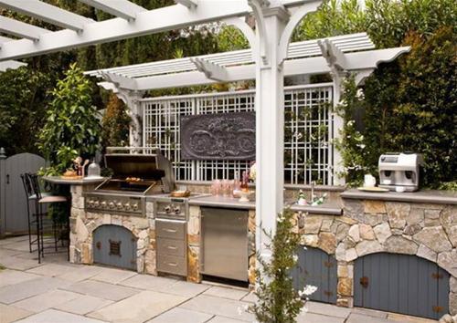 Không gian bếp đẹp ngoài hiên nhà | ảnh 7