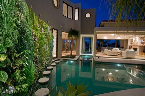 Trang trí sắc xanh cho tường nhà | ảnh 4