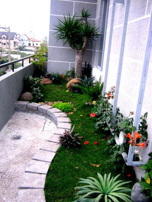 Ngoại thất sân vườn trong nhà hiện đại | ảnh 1