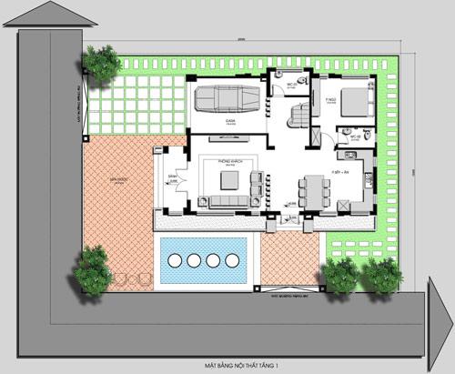 Tư vấn thiết kế biệt thự nhà vườn 3 tầng trên đất 20x15m   ảnh 2