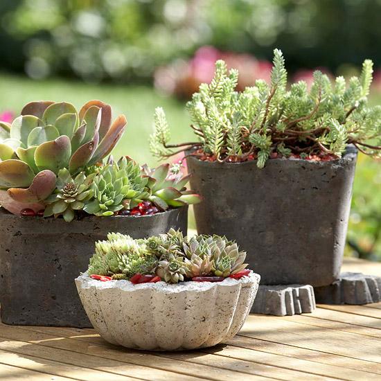 Trang trí vườn đẹp bằng những vật làm từ bê tông | ảnh 11