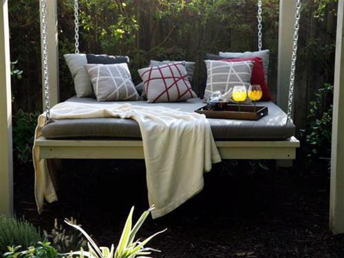 Những chiếc giường treo đẹp cho không gian ngoài trời | ảnh 1