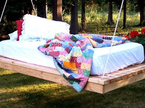 Những chiếc giường treo đẹp cho không gian ngoài trời | ảnh 2