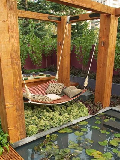 Những chiếc giường treo đẹp cho không gian ngoài trời | ảnh 4