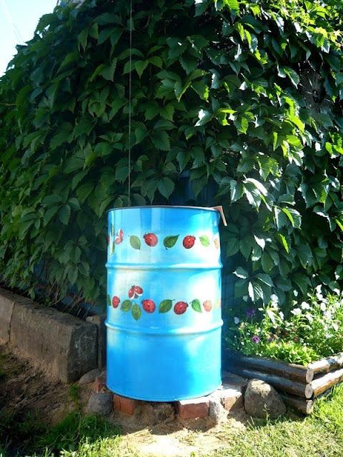 Tạo điểm nhấn cho sân vườn với thùng phi cũ | ảnh 3