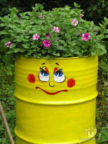 Tạo điểm nhấn cho sân vườn với thùng phi cũ | ảnh 5