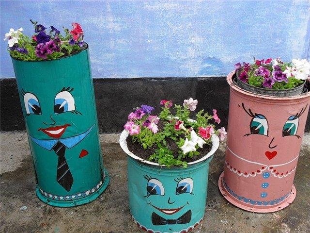 Tạo điểm nhấn cho sân vườn với thùng phi cũ | ảnh 6