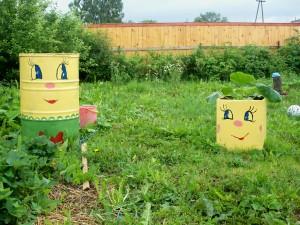 Tạo điểm nhấn cho sân vườn với thùng phi cũ | ảnh 7