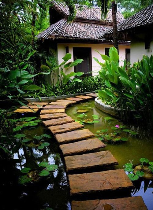 Tạo lối đi trong vườn với một màu xanh mướt | ảnh 1