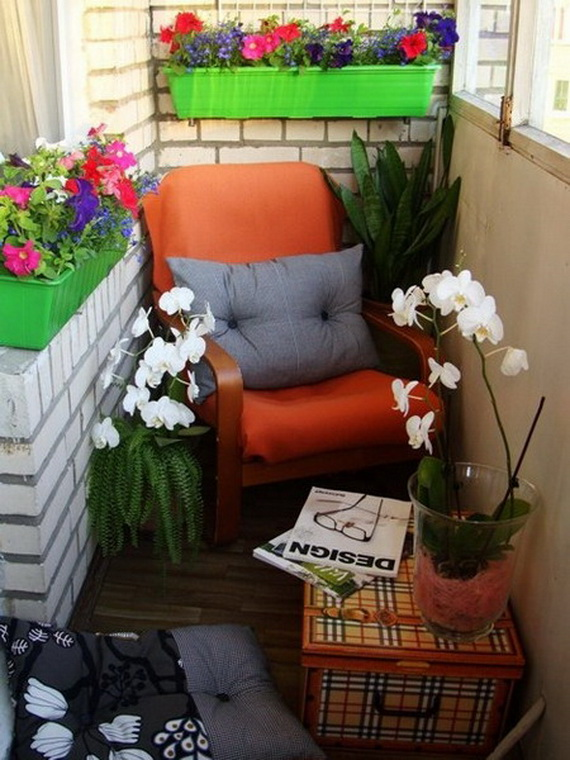Góc thư giãn ngày hè ở ban công chung cư | ảnh 12
