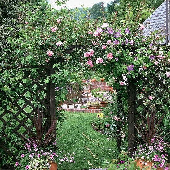 Những lối vào nhà vườn thơ mộng với cổng hoa | ảnh 7