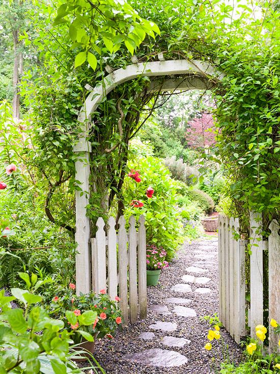 Những lối vào nhà vườn thơ mộng với cổng hoa | ảnh 2