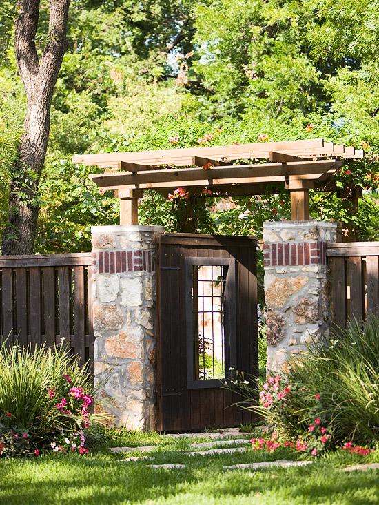 Những lối vào nhà vườn thơ mộng với cổng hoa | ảnh 3