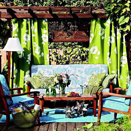 Cách làm điệu không gian ngoại thất với rèm | ảnh 1