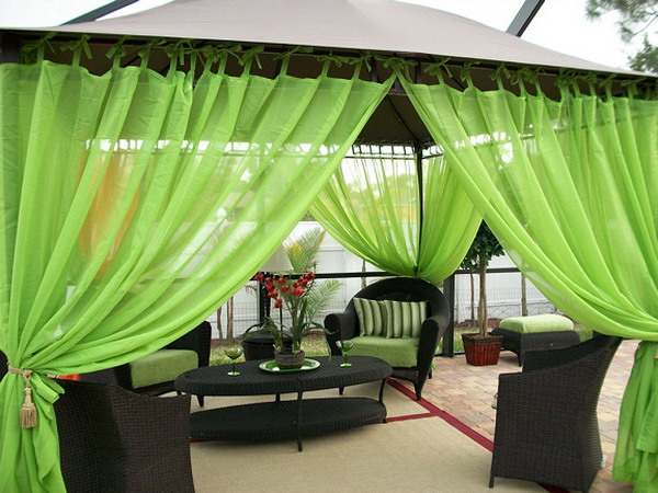 Cách làm điệu không gian ngoại thất với rèm | ảnh 2