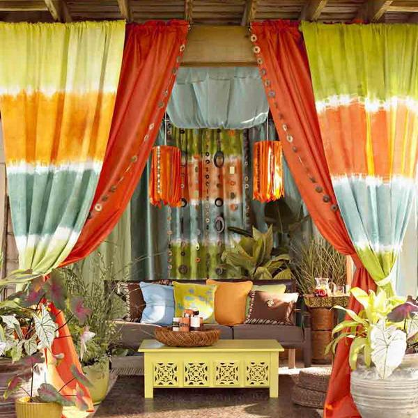 Cách làm điệu không gian ngoại thất với rèm | ảnh 3