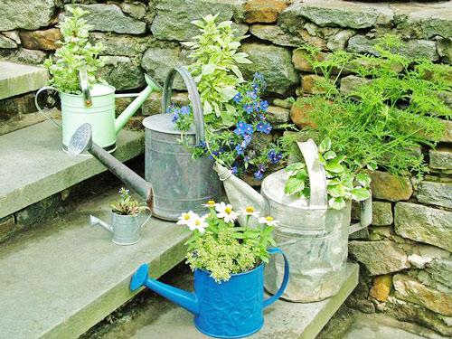 Làm đẹp khu vườn bằng những vật dụng cũ | ảnh 2