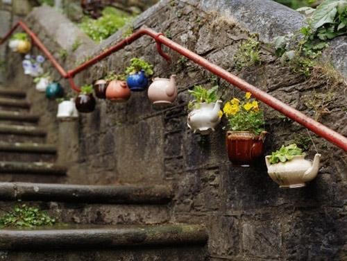 Làm đẹp khu vườn bằng những vật dụng cũ | ảnh 6