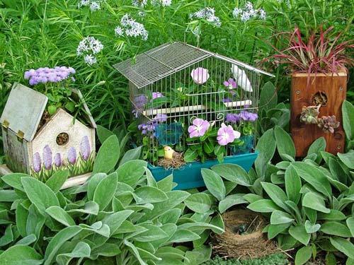 Làm đẹp khu vườn bằng những vật dụng cũ | ảnh 11