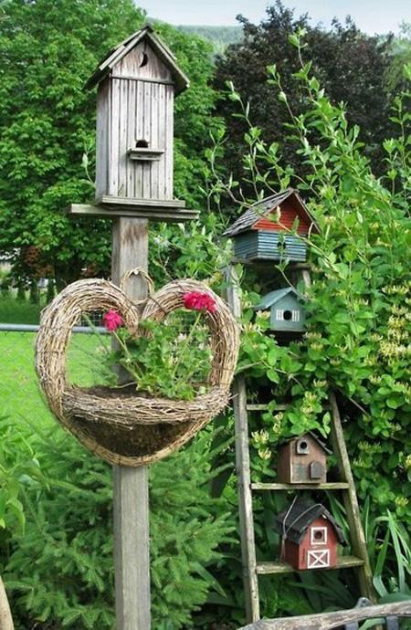 Dùng chuồng chim để...trang trí sân vườn | ảnh 3