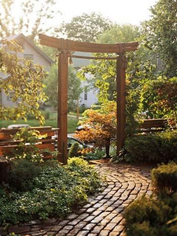 Ngôi nhà phong cách đồng quê với cổng gỗ | ảnh 2