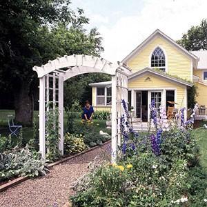 Ngôi nhà phong cách đồng quê với cổng gỗ | ảnh 5
