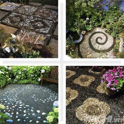 Vườn đẹp như tranh với phong cách mosaic | ảnh 1