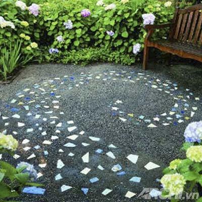 Vườn đẹp như tranh với phong cách mosaic | ảnh 2